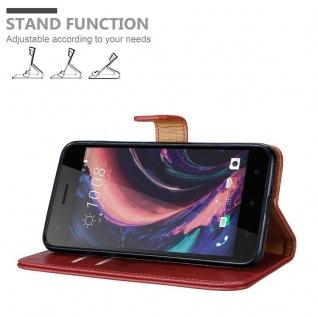 Cadorabo Hülle für HTC Desire 10 PRO in WEIN ROT - Handyhülle mit Magnetverschluss, Standfunktion und Kartenfach - Case Cover Schutzhülle Etui Tasche Book Klapp Style - Vorschau 4