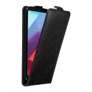 Cadorabo Hülle für LG G6 in NACHT SCHWARZ Handyhülle im Flip Design mit unsichtbarem Magnetverschluss Case Cover Schutzhülle Etui Tasche Book Klapp Style