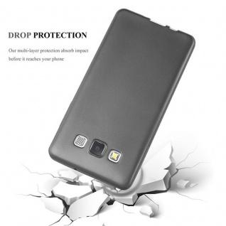 Cadorabo Hülle für Samsung Galaxy A3 2015 in METALLIC GRAU - Handyhülle aus flexiblem TPU Silikon - Silikonhülle Schutzhülle Ultra Slim Soft Back Cover Case Bumper - Vorschau 4
