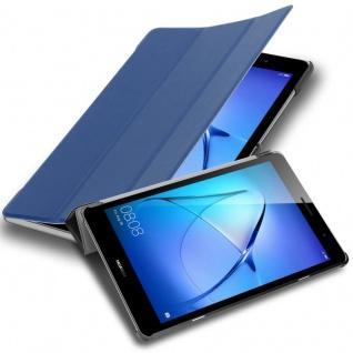 """Cadorabo Tablet Hülle für Huawei MediaPad T3 8 (8, 0"""" Zoll) in JERSEY DUNKEL BLAU Ultra Dünne Book Style Schutzhülle OHNE Auto Wake Up und Standfunktion aus Kunstleder"""
