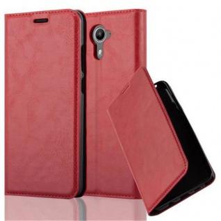 Cadorabo Hülle für WIKO U FEEL PRIME in APFEL ROT - Handyhülle mit Magnetverschluss, Standfunktion und Kartenfach - Case Cover Schutzhülle Etui Tasche Book Klapp Style