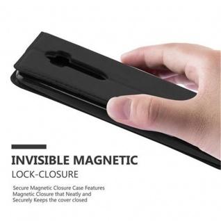 Cadorabo Hülle für LG FLEX 2 in NACHT SCHWARZ - Handyhülle mit Magnetverschluss, Standfunktion und Kartenfach - Case Cover Schutzhülle Etui Tasche Book Klapp Style - Vorschau 5