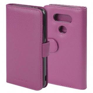 Cadorabo Hülle für LG G5 in BORDEAUX LILA - Handyhülle mit Magnetverschluss und 3 Kartenfächern - Case Cover Schutzhülle Etui Tasche Book Klapp Style