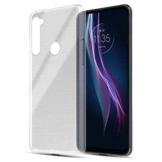 Cadorabo Hülle kompatibel mit Motorola One Fusion+ in VOLL TRANSPARENT Handyhülle aus flexiblem TPU Silikon Silikonhülle Schutzhülle Ultra Slim Soft Back Cover Case Bumper