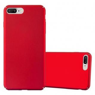 Cadorabo Hülle für Apple iPhone 8 PLUS / iPhone 7 PLUS / iPhone 7S PLUS in METALL ROT - Hardcase Handyhülle aus Plastik gegen Kratzer und Stöße - Schutzhülle Bumper Ultra Slim Back Case Hard Cover