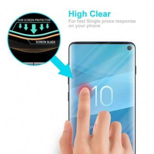 Cadorabo Vollbild Panzer Folie für Samsung Galaxy S10 - Schutzfolie in TRANSPARENT mit SCHWARZ - Gehärtetes (Tempered) Display-Schutzglas in 9H Härte mit 3D Touch Kompatibilität - Vorschau 5