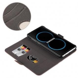 Cadorabo Hülle für Samsung Galaxy S8 - Hülle in ANTIK BRAUN ? Handyhülle im 2-in-1 Design mit Standfunktion und Kartenfach - Hard Case Book Etui Schutzhülle Tasche Cover - Vorschau 5