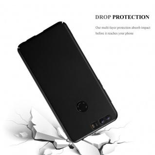 Cadorabo Hülle für Honor 8 in METALL SCHWARZ - Hardcase Handyhülle aus Plastik gegen Kratzer und Stöße - Schutzhülle Bumper Ultra Slim Back Case Hard Cover - Vorschau 3
