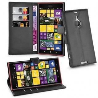 Cadorabo Hülle für Nokia Lumia 1520 in PHANTOM SCHWARZ - Handyhülle mit Magnetverschluss, Standfunktion und Kartenfach - Case Cover Schutzhülle Etui Tasche Book Klapp Style