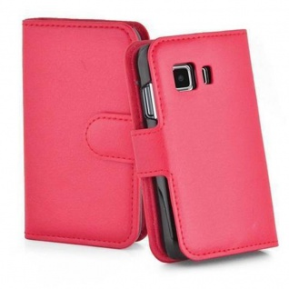 Cadorabo Hülle für Samsung Galaxy YOUNG 2 in KARMIN ROT - Handyhülle mit Magnetverschluss, Standfunktion und Kartenfach - Case Cover Schutzhülle Etui Tasche Book Klapp Style - Vorschau 5