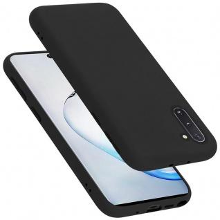Cadorabo Hülle für Samsung Galaxy NOTE 10 in LIQUID SCHWARZ Handyhülle aus flexiblem TPU Silikon Silikonhülle Schutzhülle Ultra Slim Soft Back Cover Case Bumper