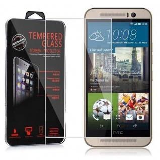Cadorabo Panzer Folie für HTC ONE M9 PLUS (3.Gen.) - Schutzfolie in KRISTALL KLAR - Gehärtetes (Tempered) Display-Schutzglas in 9H Härte mit 3D Touch Kompatibilität