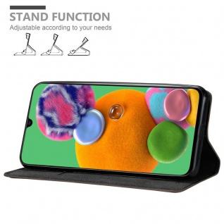 Cadorabo Hülle für Samsung Galaxy A90 5G in KAFFEE BRAUN - Handyhülle mit Magnetverschluss, Standfunktion und Kartenfach - Case Cover Schutzhülle Etui Tasche Book Klapp Style - Vorschau 2