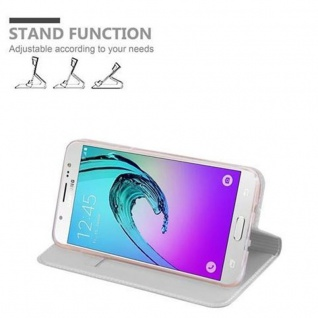 Cadorabo Hülle für Samsung Galaxy J5 2016 in CLASSY SILBER - Handyhülle mit Magnetverschluss, Standfunktion und Kartenfach - Case Cover Schutzhülle Etui Tasche Book Klapp Style - Vorschau 4