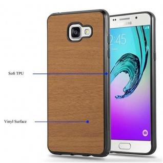 Cadorabo Hülle für Samsung Galaxy A3 2016 in WOODEN BRAUN - Handyhülle aus flexiblem TPU Silikon - Silikonhülle Schutzhülle Ultra Slim Soft Back Cover Case Bumper - Vorschau 4