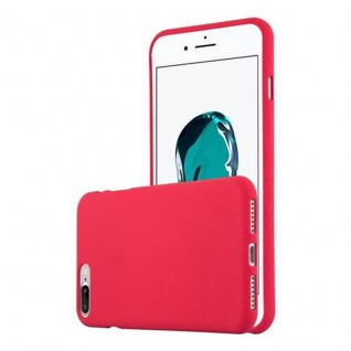 Cadorabo Hülle für Apple iPhone 8 PLUS / iPhone 7 PLUS / iPhone 7S PLUS in FROST ROT Handyhülle aus flexiblem TPU Silikon Silikonhülle Schutzhülle Ultra Slim Soft Back Cover Case Bumper
