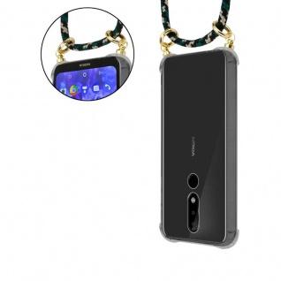 Cadorabo Handy Kette für Nokia 5.1 Plus in CAMOUFLAGE - Silikon Necklace Umhänge Hülle mit Gold Ringen, Kordel Band Schnur und abnehmbarem Etui ? Schutzhülle - Vorschau 3