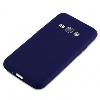 Cadorabo Hülle für Samsung Galaxy J1 2016 in CANDY DUNKEL BLAU - Handyhülle aus flexiblem TPU Silikon - Silikonhülle Schutzhülle Ultra Slim Soft Back Cover Case Bumper - Vorschau 4