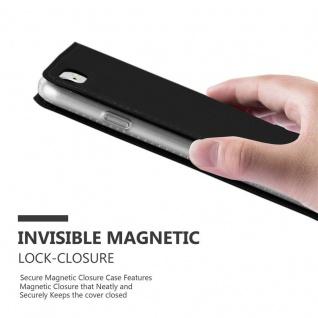 Cadorabo Hülle für Apple iPhone 8 / iPhone 7 / iPhone 7S in CLASSY SCHWARZ - Handyhülle mit Magnetverschluss, Standfunktion und Kartenfach - Case Cover Schutzhülle Etui Tasche Book Klapp Style - Vorschau 5