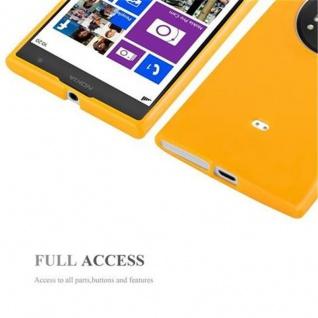 Cadorabo Hülle für Nokia Lumia 1020 in JELLY GELB - Handyhülle aus flexiblem TPU Silikon - Silikonhülle Schutzhülle Ultra Slim Soft Back Cover Case Bumper - Vorschau 4