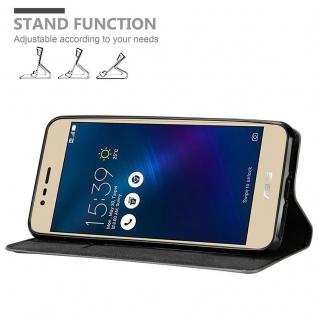 Cadorabo Hülle für Asus ZenFone 3 MAX (5, 2 Zoll) in KAFFEE BRAUN - Handyhülle mit Magnetverschluss, Standfunktion und Kartenfach - Case Cover Schutzhülle Etui Tasche Book Klapp Style - Vorschau 4