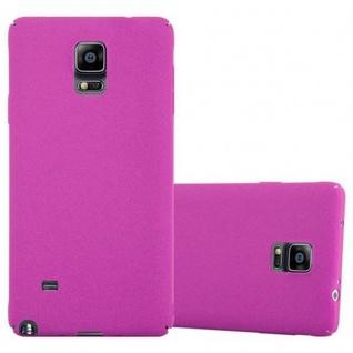 Cadorabo Hülle für Samsung Galaxy NOTE 4 in FROSTY PINK - Hardcase Handyhülle aus Plastik gegen Kratzer und Stöße - Schutzhülle Bumper Ultra Slim Back Case Hard Cover