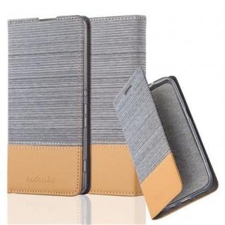 Cadorabo Hülle für Sony Xperia XA in HELL GRAU BRAUN - Handyhülle mit Magnetverschluss, Standfunktion und Kartenfach - Case Cover Schutzhülle Etui Tasche Book Klapp Style