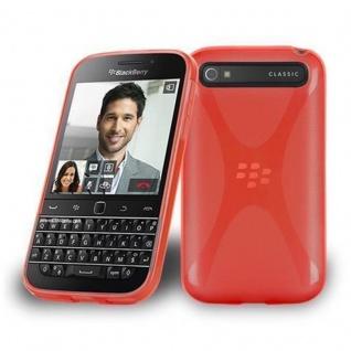 Cadorabo Hülle für Blackberry Q20 - Hülle in INFERNO ROT ? Handyhülle aus flexiblem TPU Silikon im X-Line Design - Ultra Slim Soft Backcover Case Bumper