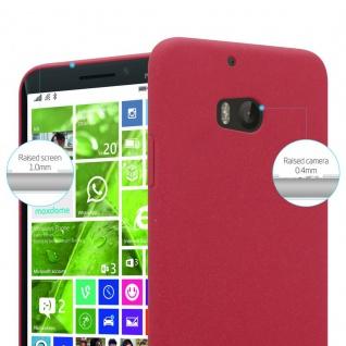 Cadorabo Hülle für Nokia Lumia 930 in FROSTY ROT - Hardcase Handyhülle aus Plastik gegen Kratzer und Stöße - Schutzhülle Bumper Ultra Slim Back Case Hard Cover - Vorschau 3