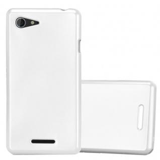 Cadorabo Hülle für Sony Xperia E3 in METALLIC SILBER - Handyhülle aus flexiblem TPU Silikon - Silikonhülle Schutzhülle Ultra Slim Soft Back Cover Case Bumper