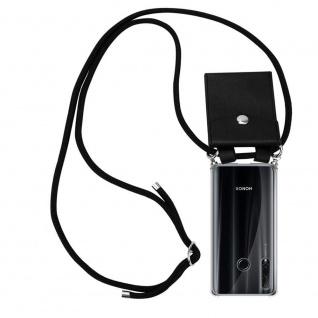 Cadorabo Handy Kette für Honor 20e in SCHWARZ Silikon Necklace Umhänge Hülle mit Silber Ringen, Kordel Band Schnur und abnehmbarem Etui Schutzhülle