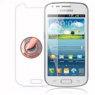 Cadorabo Panzer Folie für Samsung Galaxy TREND DUOS - Schutzfolie in KRISTALL KLAR - Gehärtetes (Tempered) Display-Schutzglas in 9H Härte mit 3D Touch Kompatibilität - Vorschau 4