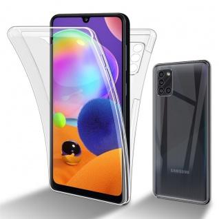Cadorabo Hülle kompatibel mit Samsung Galaxy A31 in TRANSPARENT - 360° Full Body Handyhülle Front und Rückenschutz Rundumschutz Schutzhülle mit Displayschutz