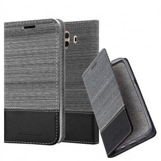 Cadorabo Hülle für Huawei MATE 10 in GRAU SCHWARZ - Handyhülle mit Magnetverschluss, Standfunktion und Kartenfach - Case Cover Schutzhülle Etui Tasche Book Klapp Style