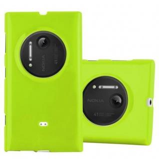 Cadorabo Hülle für Nokia Lumia 1020 in JELLY GRÜN - Handyhülle aus flexiblem TPU Silikon - Silikonhülle Schutzhülle Ultra Slim Soft Back Cover Case Bumper