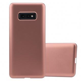 Cadorabo Hülle für Samsung Galaxy S10e in METALLIC ROSÉ GOLD - Handyhülle aus flexiblem TPU Silikon - Silikonhülle Schutzhülle Ultra Slim Soft Back Cover Case Bumper