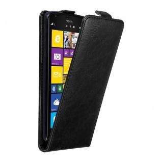 Cadorabo Hülle für Nokia Lumia 1520 in NACHT SCHWARZ Handyhülle im Flip Design mit unsichtbarem Magnetverschluss Case Cover Schutzhülle Etui Tasche Book Klapp Style