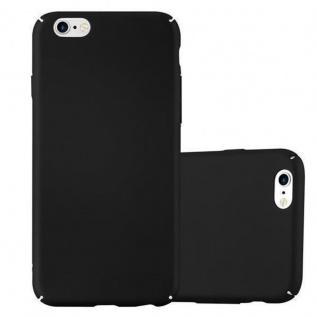 Cadorabo Hülle für Apple iPhone 6 / iPhone 6S in METALL SCHWARZ - Hardcase Handyhülle aus Plastik gegen Kratzer und Stöße - Schutzhülle Bumper Ultra Slim Back Case Hard Cover