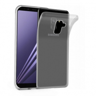 Cadorabo Hülle für Samsung Galaxy A8 2018 in VOLL TRANSPARENT - Handyhülle aus flexiblem TPU Silikon - Silikonhülle Schutzhülle Ultra Slim Soft Back Cover Case Bumper
