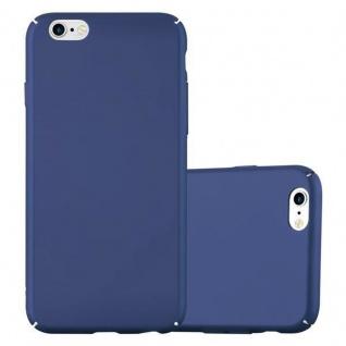 Cadorabo Hülle für Apple iPhone 6 / iPhone 6S in METALL BLAU Hardcase Handyhülle aus Plastik gegen Kratzer und Stöße Schutzhülle Bumper Ultra Slim Back Case Hard Cover