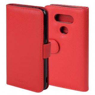 Cadorabo Hülle für LG G5 in INFERNO ROT - Handyhülle mit Magnetverschluss und 3 Kartenfächern - Case Cover Schutzhülle Etui Tasche Book Klapp Style