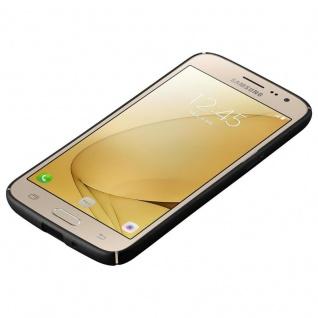 Cadorabo Hülle für Samsung Galaxy J2 2016 in METALL SCHWARZ ? Hardcase Handyhülle aus Plastik gegen Kratzer und Stöße ? Schutzhülle Bumper Ultra Slim Back Case Hard Cover - Vorschau 3