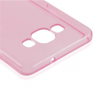 Cadorabo Hülle für Samsung Galaxy A5 2015 in TRANSPARENT PINK - Handyhülle aus flexiblem TPU Silikon - Silikonhülle Schutzhülle Ultra Slim Soft Back Cover Case Bumper - Vorschau 4