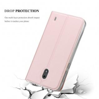 Cadorabo Hülle für Nokia 2 2017 in CLASSY ROSÉ GOLD - Handyhülle mit Magnetverschluss, Standfunktion und Kartenfach - Case Cover Schutzhülle Etui Tasche Book Klapp Style - Vorschau 5