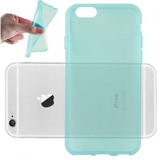 Cadorabo Hülle für Apple iPhone 6 PLUS / iPhone 6S PLUS - Hülle in TRANSPARENT BLAU ? Handyhülle aus TPU Silikon im Ultra Slim 'AIR' Design - Ultra Slim Soft Backcover Case Bumper
