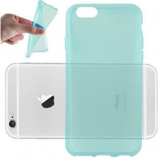 Cadorabo Hülle für Apple iPhone 6 PLUS / iPhone 6S PLUS in TRANSPARENT BLAU Handyhülle aus flexiblem TPU Silikon Silikonhülle Schutzhülle Ultra Slim Soft Back Cover Case Bumper