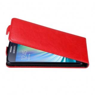 Cadorabo Hülle für Samsung Galaxy A3 2015 in APFEL ROT Handyhülle im Flip Design mit unsichtbarem Magnetverschluss Case Cover Schutzhülle Etui Tasche Book Klapp Style