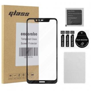 Cadorabo Vollbild Panzer Folie für Nokia 5.1 PLUS Schutzfolie in TRANSPARENT mit SCHWARZ Gehärtetes (Tempered) Display-Schutzglas in 9H Härte mit 3D Touch Kompatibilität