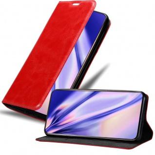 Cadorabo Hülle für Samsung Galaxy A80 / A90 in APFEL ROT - Handyhülle mit Magnetverschluss, Standfunktion und Kartenfach - Case Cover Schutzhülle Etui Tasche Book Klapp Style