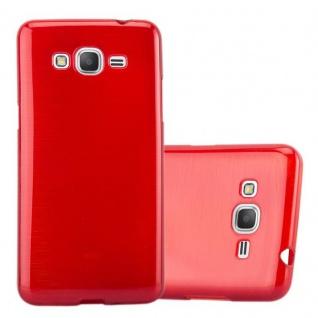 Cadorabo Hülle für Samsung Galaxy GRAND PRIME in ROT - Handyhülle aus flexiblem TPU Silikon - Silikonhülle Schutzhülle Ultra Slim Soft Back Cover Case Bumper
